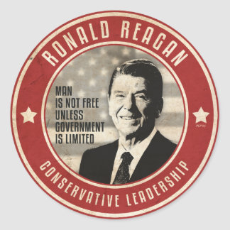 Ronald Reagan Pegatina Redonda