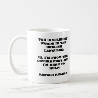 Ronald Reagan pic - small gov't quote Coffee Mug