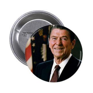 Ronald Reagan Pin Redondo De 2 Pulgadas