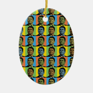 Ronald Reagan Pop-Art Ceramic Ornament