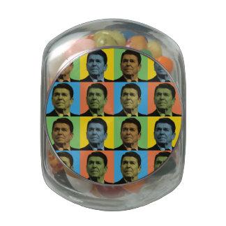 Ronald Reagan Pop-Art Jelly Belly Candy Jar