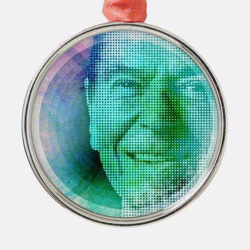 Ronald Reagan Pop Art Metal Ornament