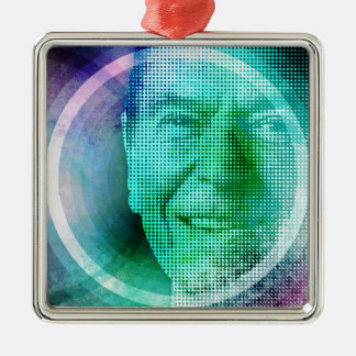 Ronald Reagan Pop Art Metal Ornament