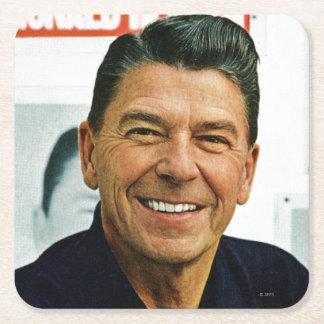 Ronald Reagan Posavasos Desechable Cuadrado