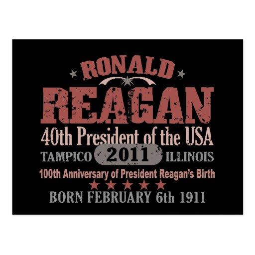Ronald Reagan Post Card