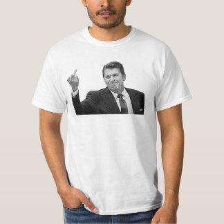 Ronald Reagan que mueve de un tirón el pájaro Playera