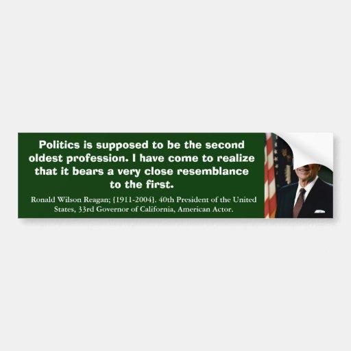Ronald Reagan Quote_06 Pegatina De Parachoque