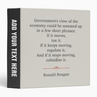 Ronald Reagan Quote Binders