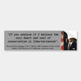 Ronald Reagan Quote Car Bumper Sticker
