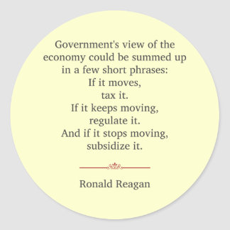 Ronald Reagan Quote Classic Round Sticker