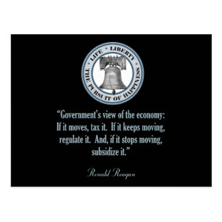Ronald Reagan Quote (Government's View) Postcard