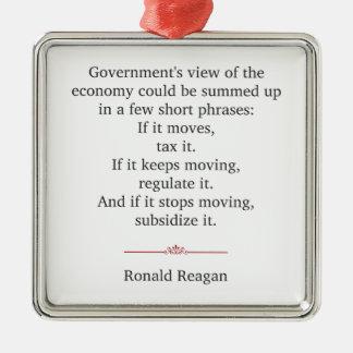 Ronald Reagan Quote Metal Ornament
