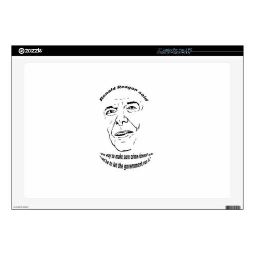 Ronald Reagan Quote.png Skins Para 43,2cm Portátil