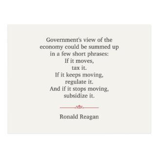 Ronald Reagan Quote Postcard