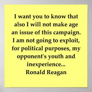 ronald reagan quote poster
