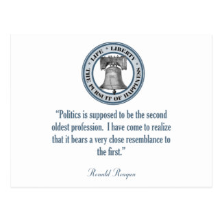 Ronald Reagan Quote (The Oldest Profession) Postcard