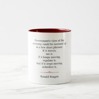 Ronald Reagan Quote Two-Tone Coffee Mug