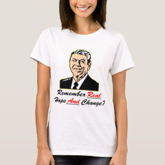 Ronald Reagan Remember Real Hope And Change T-Shirt