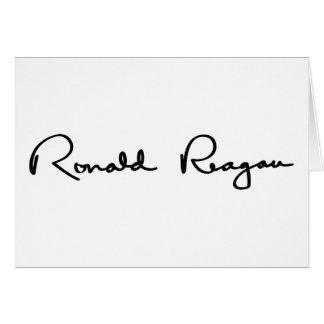 Ronald Reagan Signature Card