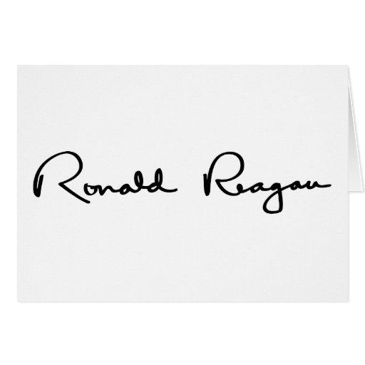 Ronald Reagan Signature Greeting Cards