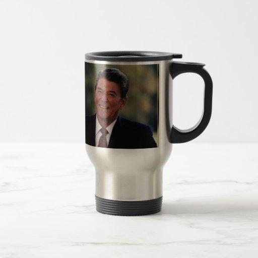 Ronald Reagan Taza De Viaje De Acero Inoxidable