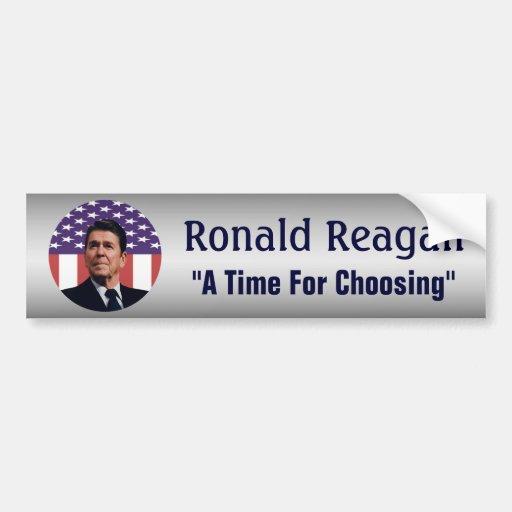 Ronald Reagan una época para elegir Pegatina Para Auto