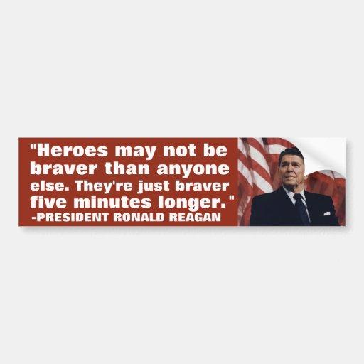 Ronald Reagan: Valor Pegatina De Parachoque