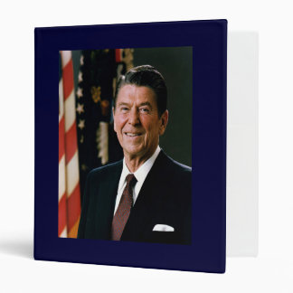 Ronald Reagan Vinyl Binder
