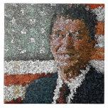 Ronald Reagan With Flag Ceramic Tiles