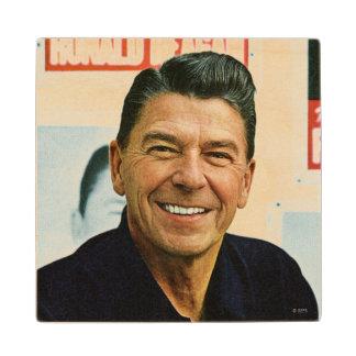 Ronald Reagan Wooden Coaster