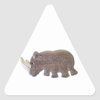 Ronald Rhino Triangle Stickers