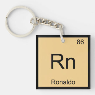 Ronaldo Name Chemistry Element Periodic Table Keychain