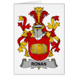 Ronan Family Crest Greeting Card