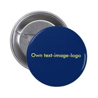 Rond del blauw del botón pins
