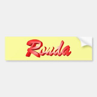 Ronda bumper sticker
