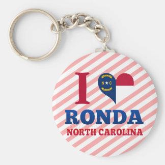 Ronda, Carolina del Norte Llaveros Personalizados