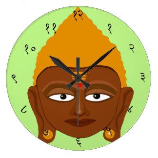 Ronda grande sánscrita del reloj de pared de Buda