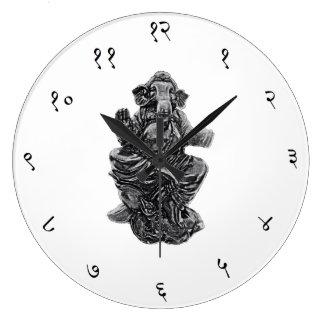 Ronda grande sánscrita del reloj de pared de Ganes