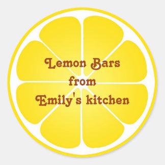 Ronda superior del limón de fiesta del favor de la