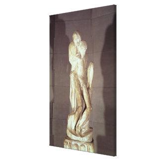 Rondanini Pieta, 1564 (marble) (see also 55601) Canvas Print