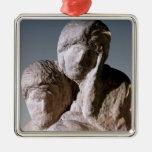 Rondanini Pieta, detail of the heads of Christ Ornament