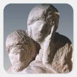 Rondanini Pieta, detail of the heads of Christ Sticker