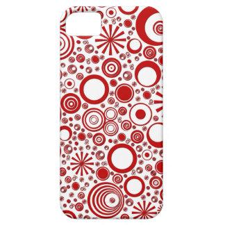 Rondas, caja Rojo-Blanca del teléfono del iPhone iPhone 5 Fundas