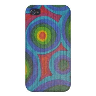 Rondas del arco iris - diseño de Pern de los círcu iPhone 4 Fundas
