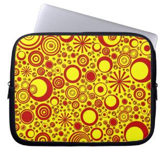 Rondas, manga Rojo-Amarilla del ordenador portátil Funda Computadora