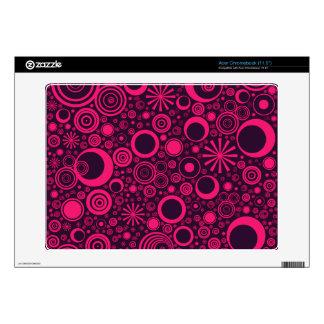 Rondas, piel Rosado-Púrpura de Acer Chromebook Calcomanía Para Acer Chromebook