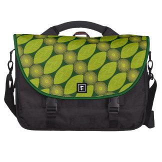 Rondas y hojas del tigre bolsas para portatil