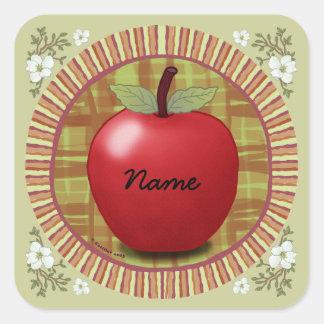 Rondo Apple Colcomanias Cuadradas Personalizadas