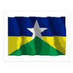 Rondônia, bandera que agita del Brasil Tarjetas Postales