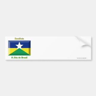 Rondônia Flag Gem Car Bumper Sticker